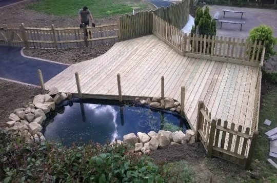 Decking and Pond Construction