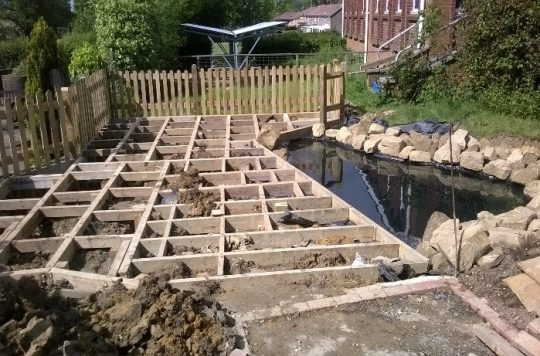 Decking and Pond Building