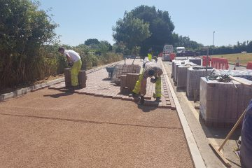 Paving Uckfield Hospital